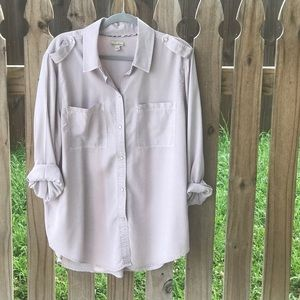 Button up utility type shirt from Anthropologie!